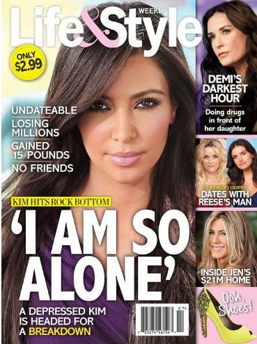 Kim Kardashian - Life & Style Weekly Magazine Cover [United States] (15 February 2012)