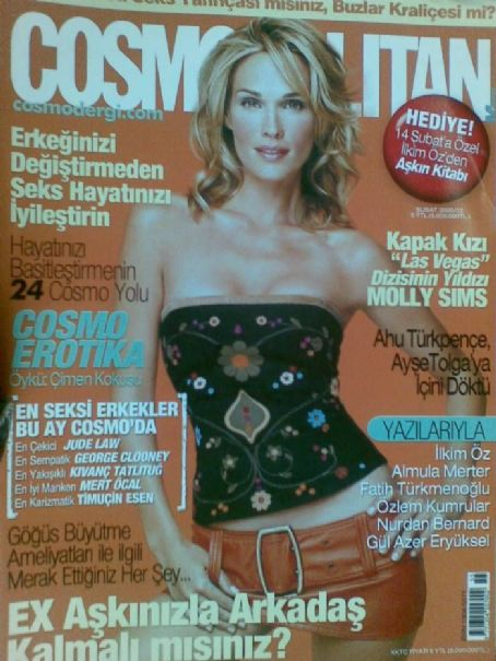Molly Sims - Cosmopolitan Magazine Cover [Turkey] (February 2005)