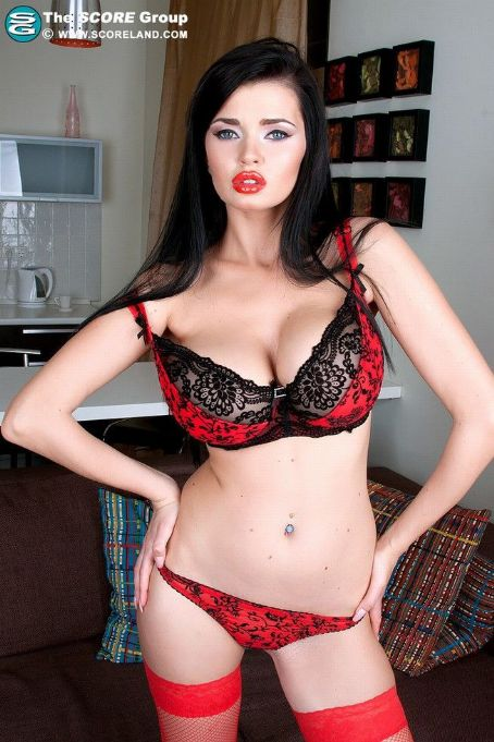 Sha Rizel  The Brunette In Red