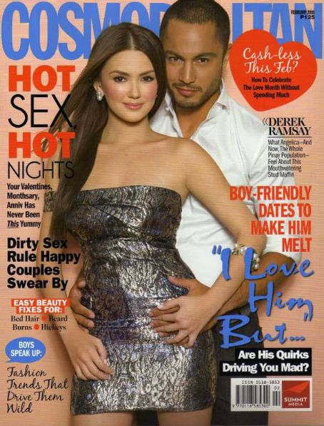 Angelica Panganiban and Derek Ramsay Angelica Panganiban Cosmopolitan Magazine February 2010 Pictorial Photo - Philippines