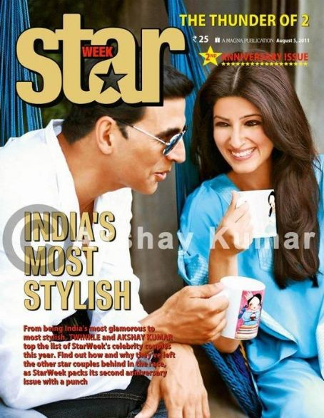 Twinkle Khanna and Akshay Kumar - Akshay Kumar, Twinkle Khanna - STAR WEEK Magazine Pictorial [India] (5 August 2011)