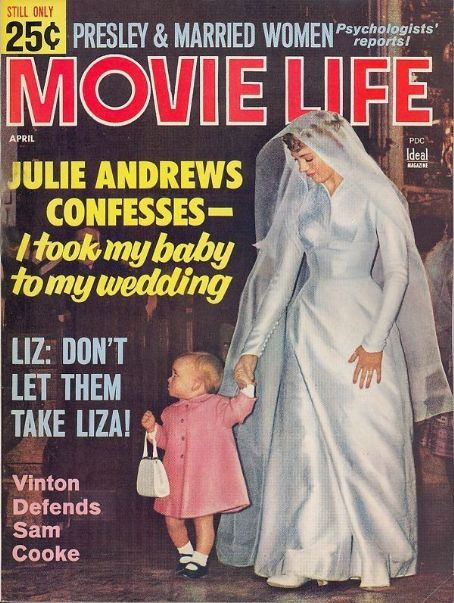 Julie Andrews - Movie Life Magazine Cover [United States] (April 1965)