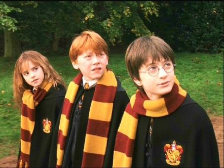 Harry Potter and the Sorcerer's Stone - Hermione Granger (Emma Watson), Ron Weasley (Rupert Grint), and Harry Potter (Daniel Radcliffe)