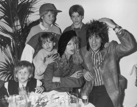 Ron Wood Ronnie Wood and Jo Wood with their family