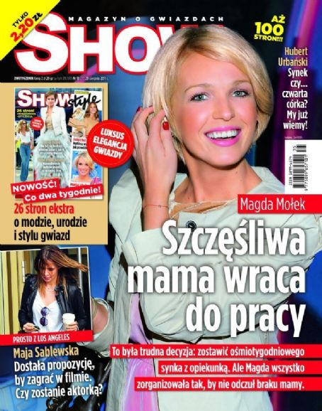 Magda Molek - Show Magazine Cover [Poland] (29 August 2011)