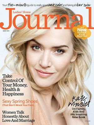 Kate Winslet - Ladies' Home Journal Magazine Cover [United States] (March 2012)