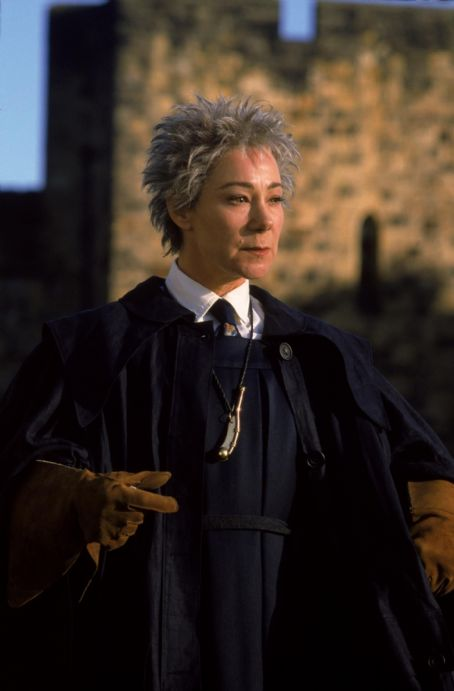 Zoë Wanamaker Zoe Wanamaker as Madame Hooch in Warner Brothers' Harry Potter and The Sorcerer's Stone - 2001