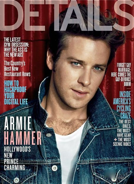 Armie Hammer - Details Magazine Cover [United States] (October 2011)