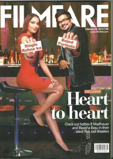 Madhavan, Bipasha Basu - Filmfare Magazine Cover [India] (29 February 2012)