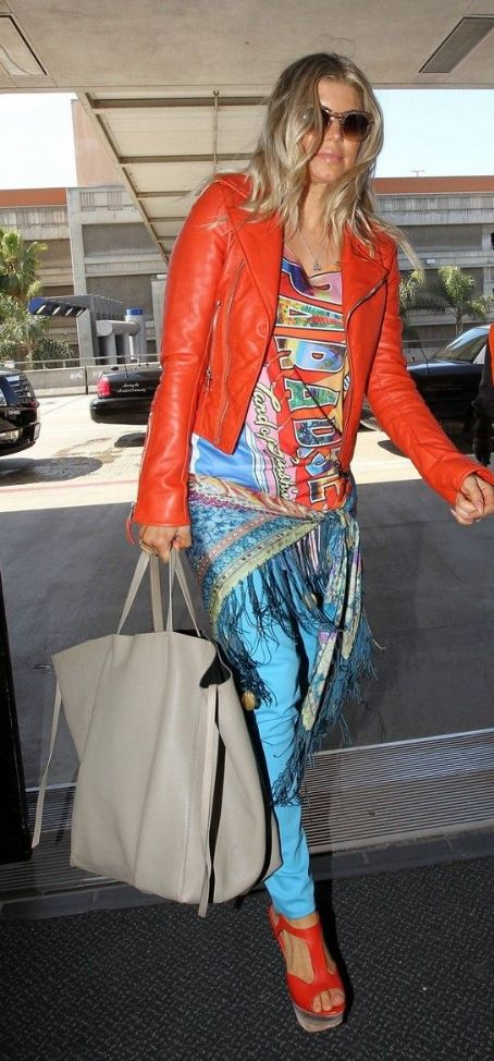 Stacy Ferguson: at LAX Airport