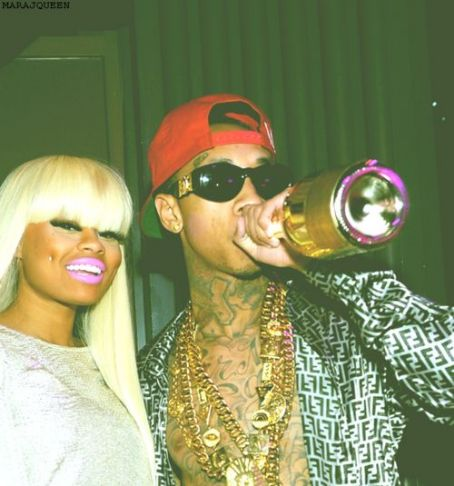 Blac Chyna Tyga and  at his party