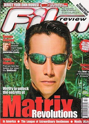 Keanu Reeves - Film Review Magazine [United Kingdom] (November 2003)