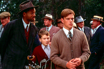 J. Michael Moncrief Bagger Vance (Will Smith) is a caddy that offers advice about more than the game to young golfer Rannulph Junuh (Matt Damon, right) with the help of his young protege Hardy () in Dreamworks' The Legend of Bagger Vance - 2000