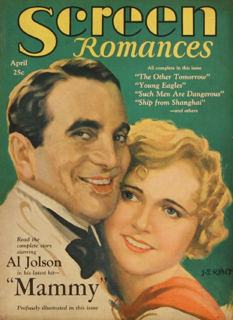Al Jolson - Screen Romances Magazine [United States] (April 1930)