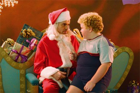 Bad Santa Brett Kelly and Billy Bob Thornton in  (2003)