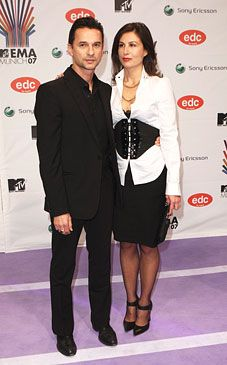 David Gahan  and Jennifer Sklias