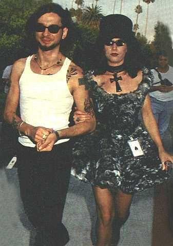 David Gahan  and Teresa Conroy