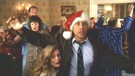 Chevy Chase Beverly D'Angelo and  in Christmas Vacation (1989)