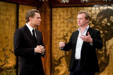 "Christopher Nolan - (L-r) LEONARDO DiCAPRIO with Director CHRISTOPHER NOLAN on the set of Warner Bros. Pictures' and Legendary Pictures' sci-fi action film ""INCEPTION,"" a Warner Bros. Pictures release. Photo by Melissa Moseley"