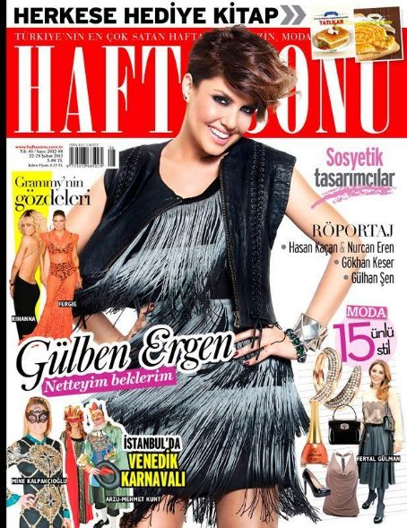 Gülben Ergen - Haftasonu Magazine Cover [Turkey] (22 February 2012)
