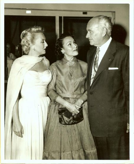 Celeste Holm  with Dolores Del Rio and Conrad Hilton