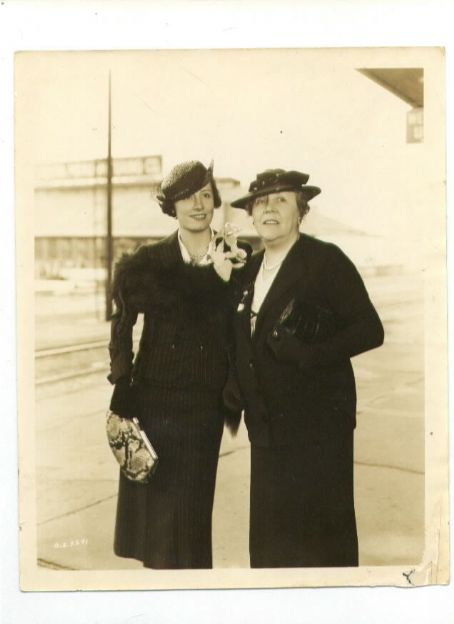 Irene Dunne  and her mother