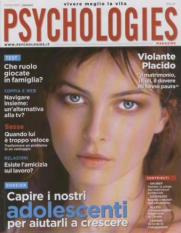 Violante Placido - Psychologies Magazine Cover [Italy] (March 2007)