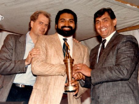 Franco Harris Chet Coppock,   & Doug Buffone at The Italian Hall of Fame