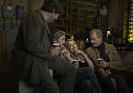 Ed Begley Jr. Left to Right: Olek Krupa as Morgenstern, Conleth Hill as Brockman, Patricia Clarkson as Marietta, and Ed Begley, Jr. as John. Photo taken by Jessica Miglio, © Gravier Productions, Courtesy of Sony Pictures Classics