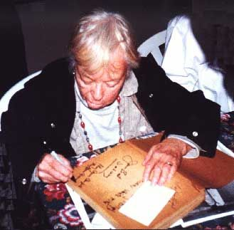 Mary Grace Canfield Mary signing autographs