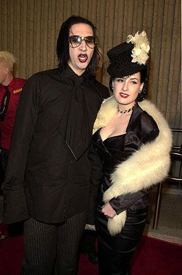 Dita Von Teese and Marilyn Manson