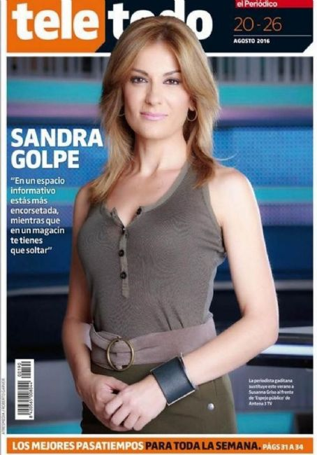 Photo GolpeTeletodo 2016 Spain Sandra Magazine 20 August Cover SzMVqLUpG