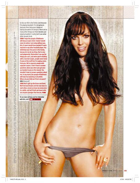 Anna Benson  - FHM US April 2006 Scans