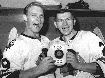 Bobby Hull Bobby with Stan Mikita 1961