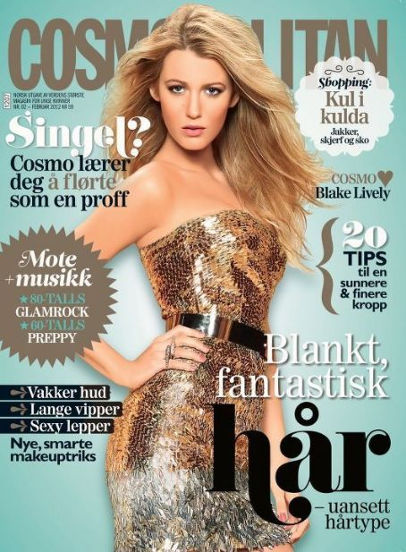 Blake Lively - Cosmopolitan Magazine Cover [Norway] (February 2012)