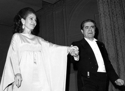 Maria Callas and Giuseppe Di stefano Maria Callas and Giuseppe Di Stefano