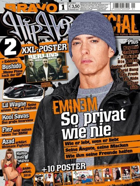 Eminem - Bravo Hip Hop Special Magazine Cover [Germany] (January 2011)