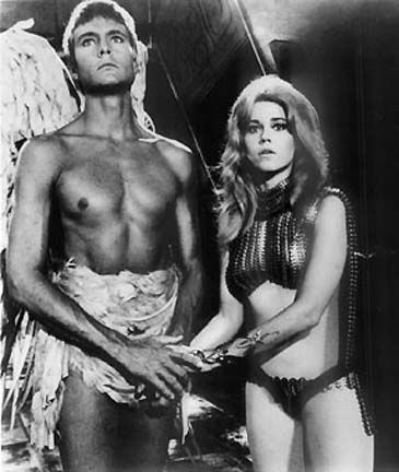 Barbarella John Philip Law and Jane Fonda in