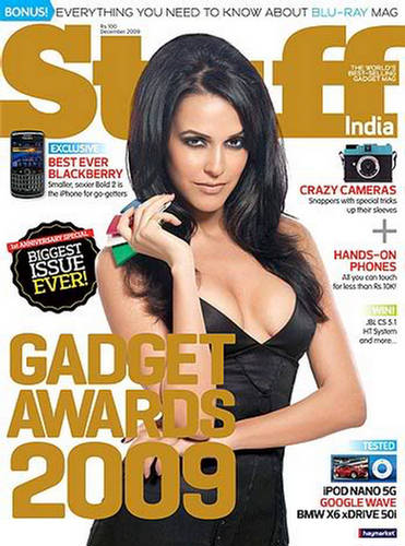 Neha Dhupia  Stuff Magazine December 2009