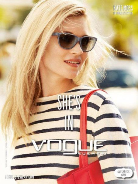 Kate Moss' New Vogue Eyewear Campaign