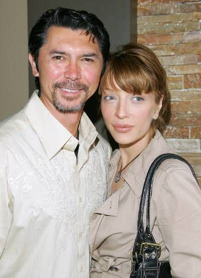 Lou Diamond Phillips  and Yvonne Boismier