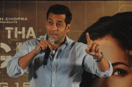 Salman Khan & KatrinaKaif  at Ek Tha Tiger Mashallah Song Launch 2012