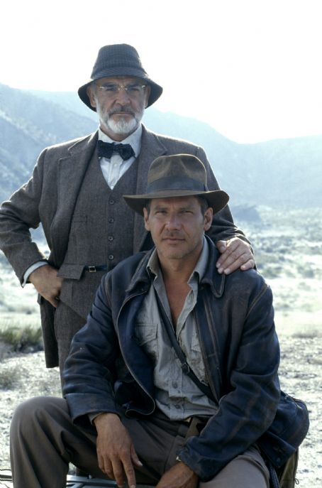 Indiana Jones Harrison Ford and Sean Connery in  and The Last Crusade (1989)