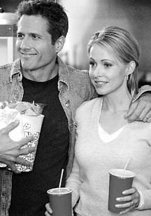 Melrose Place Josie Bissett and Rob Estes in