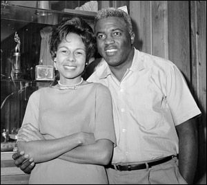 Jackie Robinson Jackie with wife Rachel