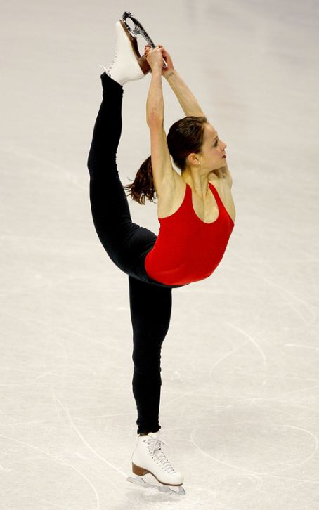 Sasha Cohen - Practicing for 2010 US Figure Skating Championship