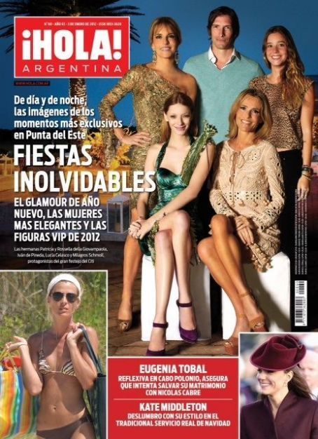 Milagros Schmoll, Eugenia Tobal - Hola! Magazine Cover [Argentina] (3 January 2012)