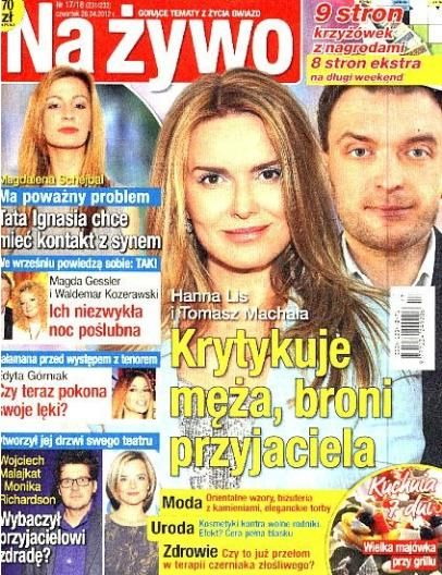 Hanna Lis - Na żywo Magazine Cover [Poland] (26 April 2012)