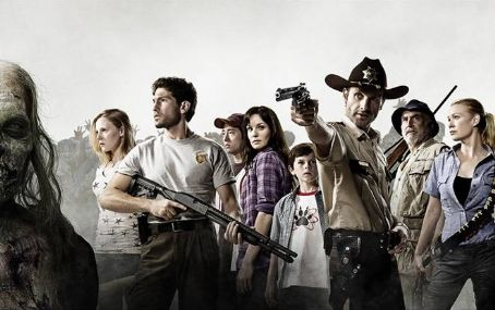 Sarah Wayne Callies and Jon Bernthal The Walking Dead Poster