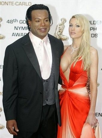 Christopher Judge  and Gianna Patton at the Golden Nymph Awards in Monte Carlo